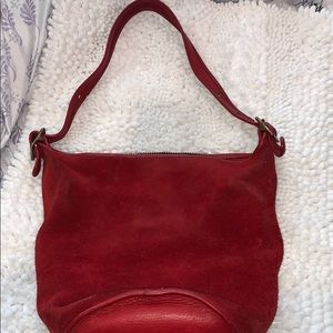 Red suede bag!